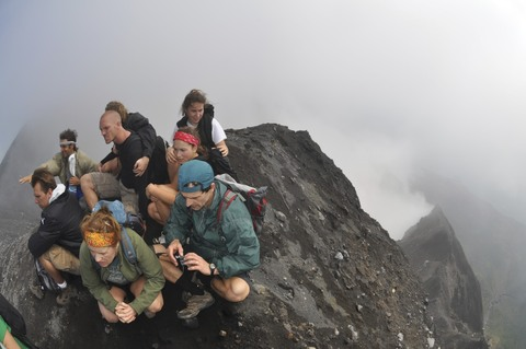 volcano hikers