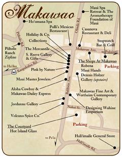 Makawao Town Map