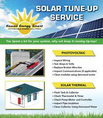 Solar tune-up service