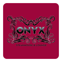 Onyx Steakhouse and Lounge logo