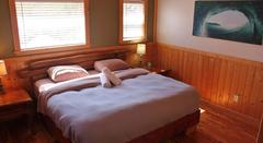 Master Bedroom at the Single Fin Cabin